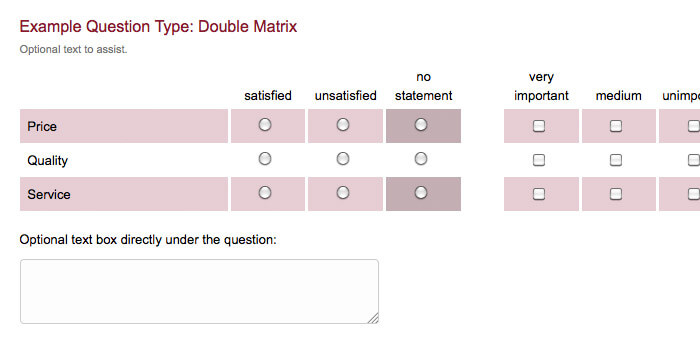 survey question type double matrix