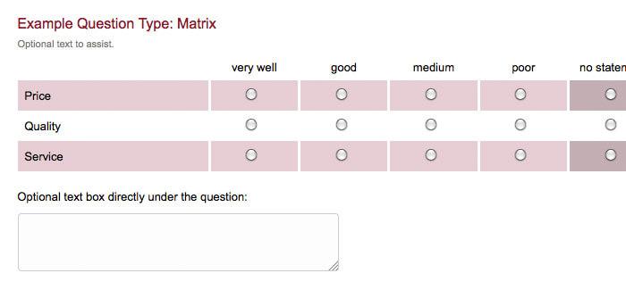 survey question type matrix