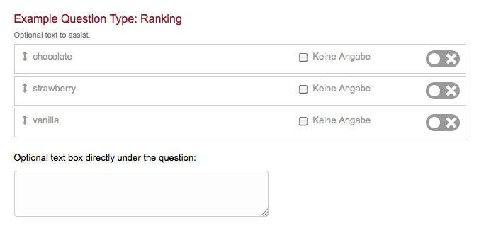 survey question type ranking