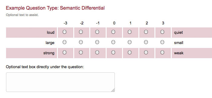 survey question type semantic differential