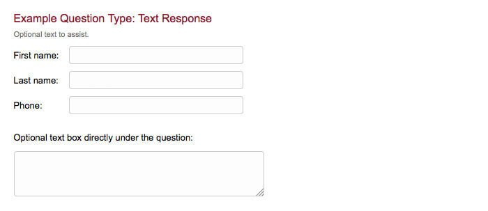 survey question type text response