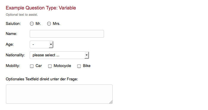 survey question type variable