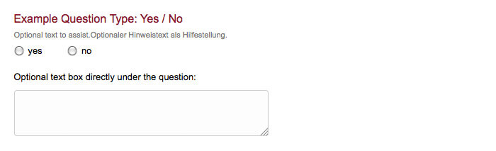 survey question type yes no