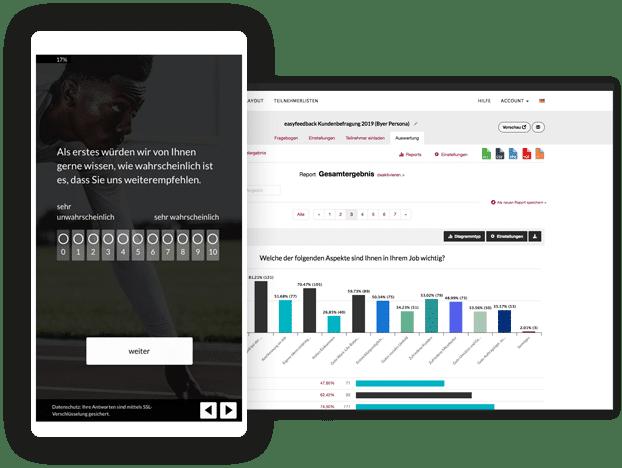 Umfrage, Fragebogen und Feedbackbogen mit easyfeedback erstellen