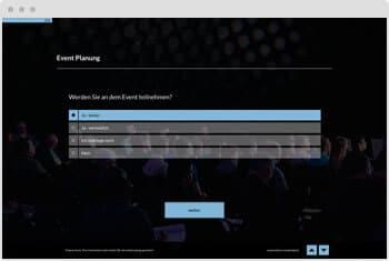 Umfrage-Vorlage: Eventplanung