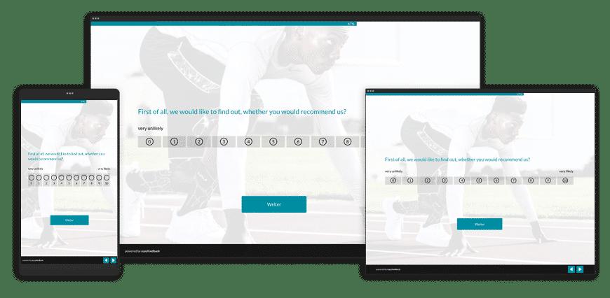 Umfragen für Smartphone, Tablet und Desktop