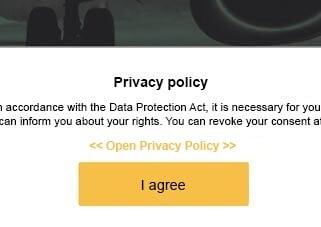 Add privacy notice to survey