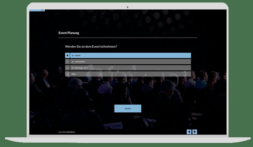 Event planen Umfrage-Vorlage
