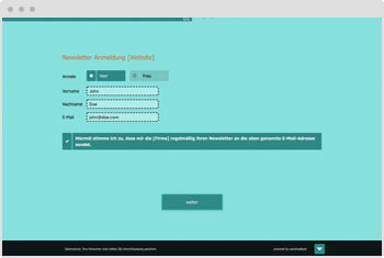Survey Template: Newsletter Subscription Form