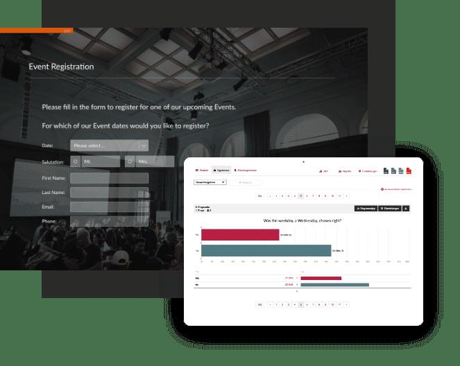 Create event surveys with easyfeedback
