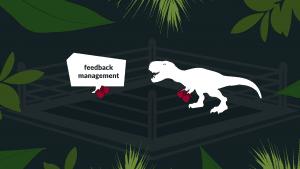 Title image dinosaur in feedback management