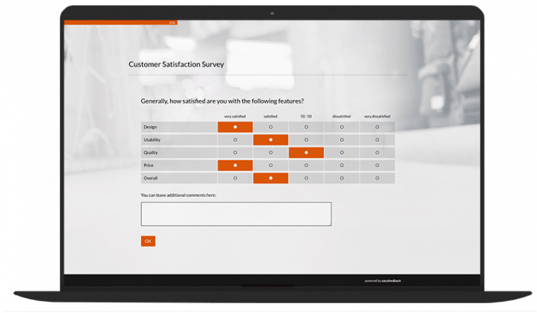 Customer satisfaction questionnaire template