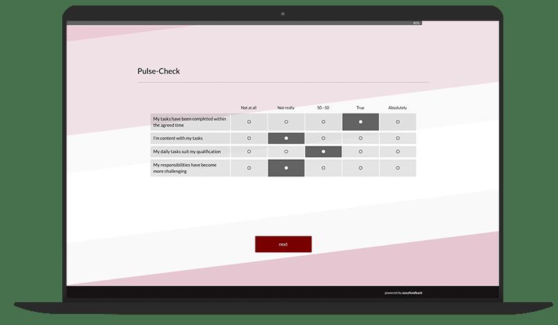 Pulse Check Survey Template