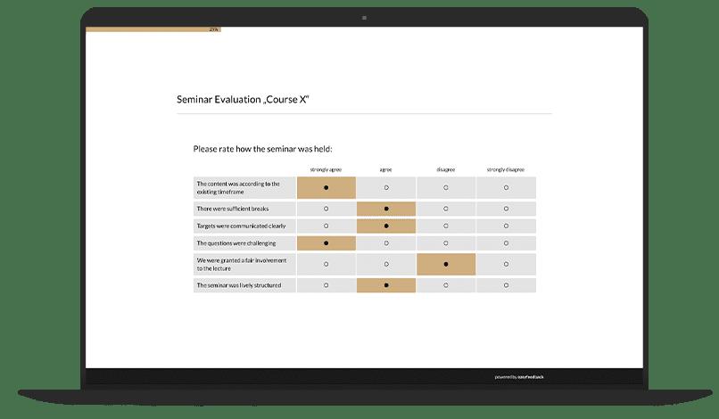 Seminar Feedback Survey Template