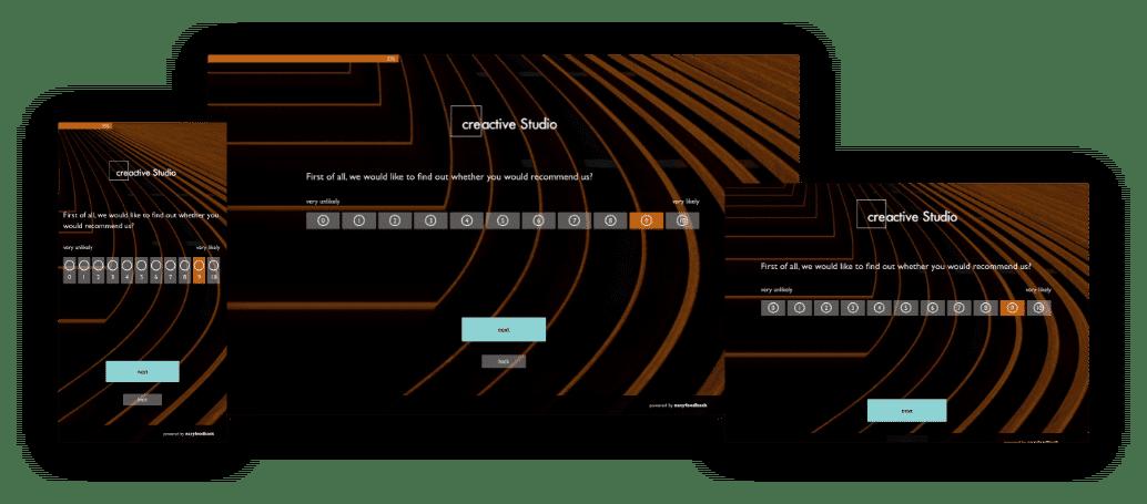 Surveys for smartphones, tablets and desktop